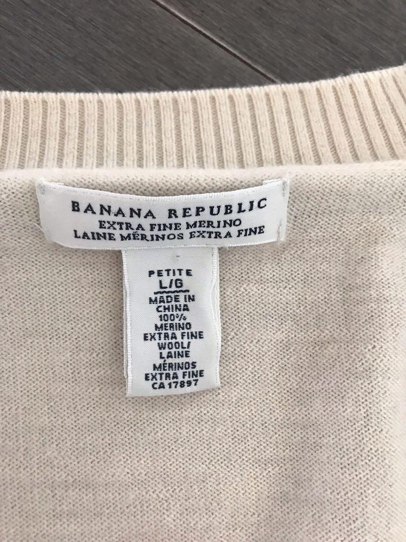 Banana republic Petite Large extra fine merino wool