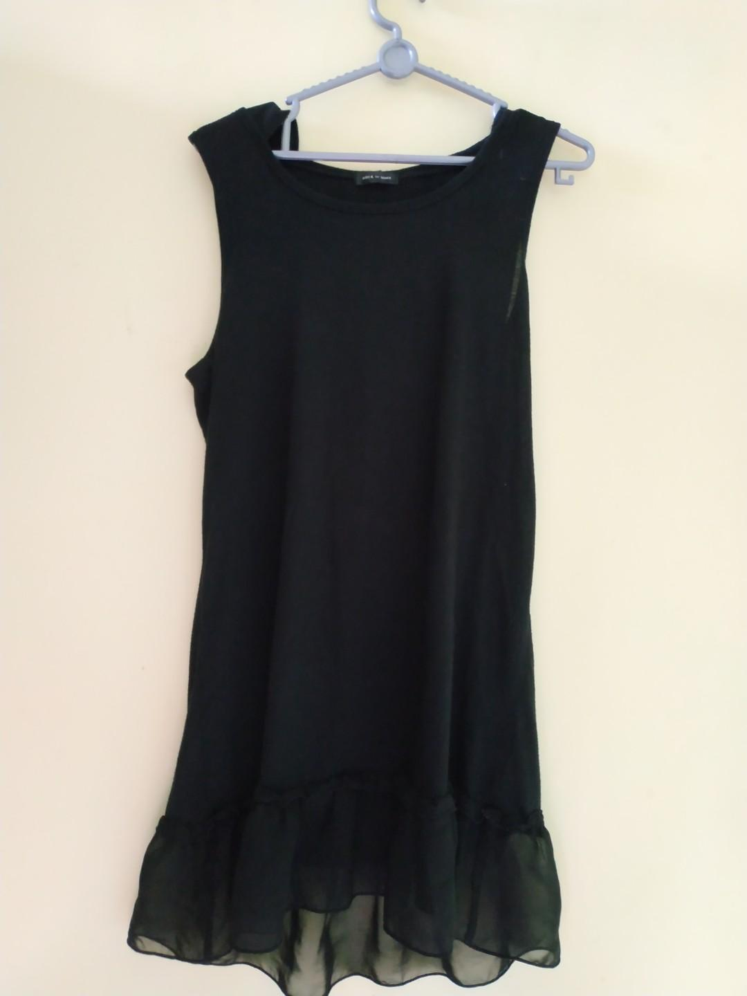 Black Dress mini with hoodie