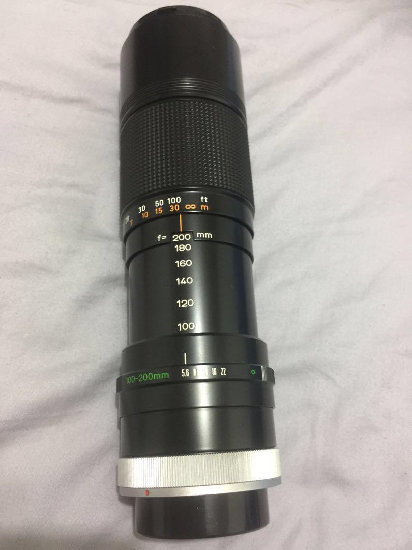 Canon zoom lens FD100-200mm 1:5.6