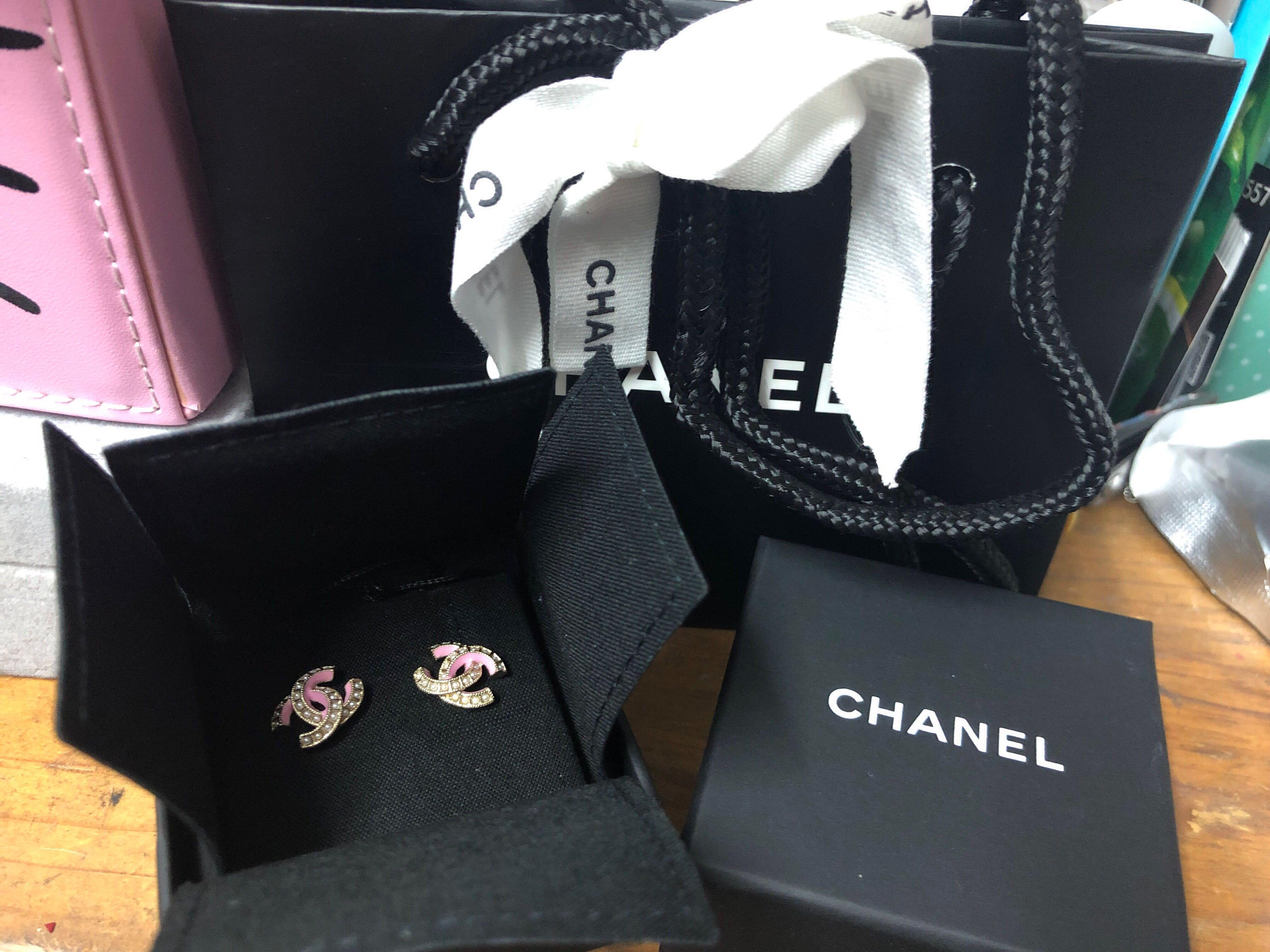 Chanel 耳環 2019 Chanel earrings  Chanel粉紅色珍珠耳環