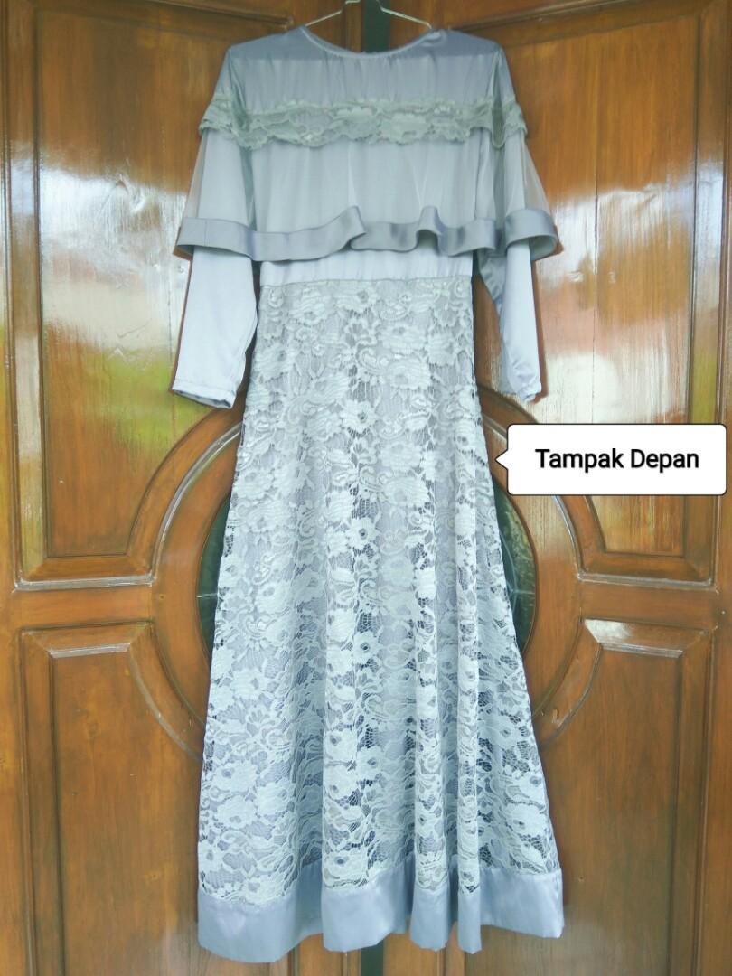 Dress Brukat Wisuda / Kondangan / Bridesmaid / Long Dress Brukat Wisuda / Dress Brokat / Baju Brukat / Gamis Brukat