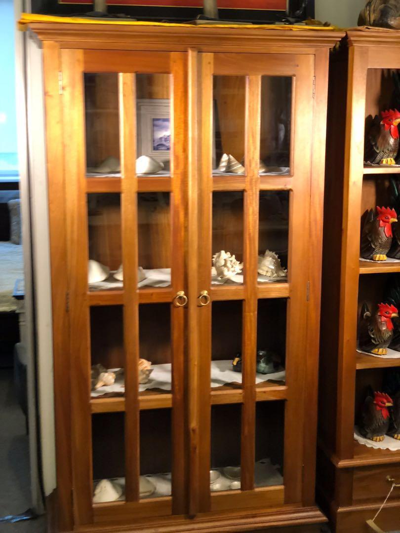 WAREHOUSE FACTORY SALE Teak Glass Display Cabinet TeakCO.com