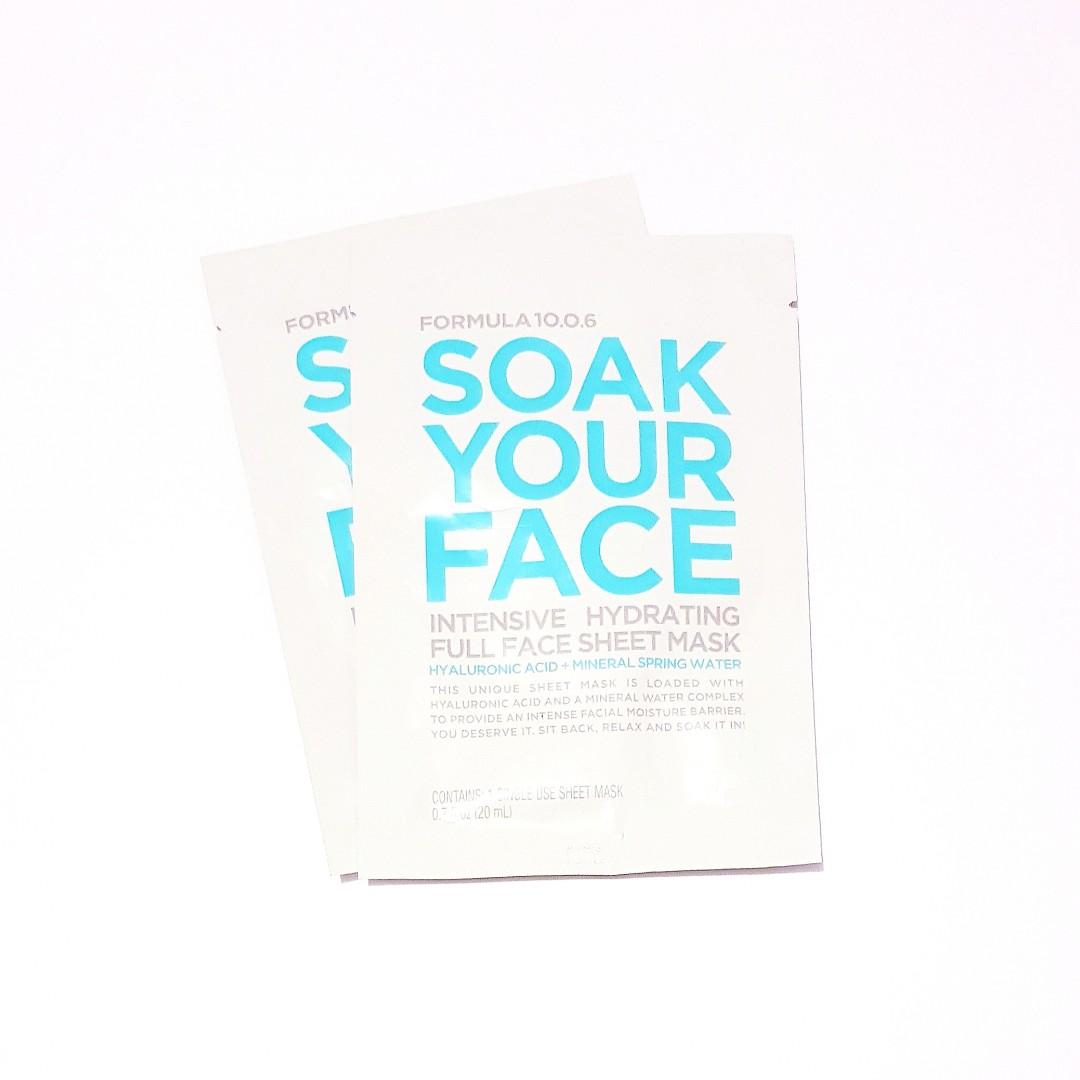 Formula 10.0.6 Soak Your Face Intensive Hydrating Full Face Sheet Facial Mask