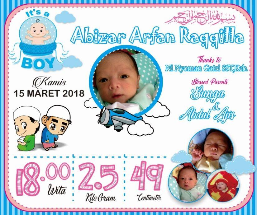 Frame Biodata Kelahiran Bayi