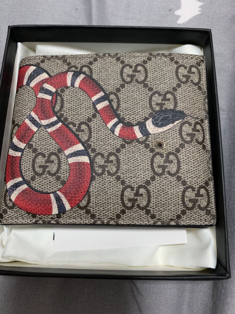 3540ef57d12fe0 Gucci snake mens wallet, Luxury, Bags & Wallets, Wallets on Carousell