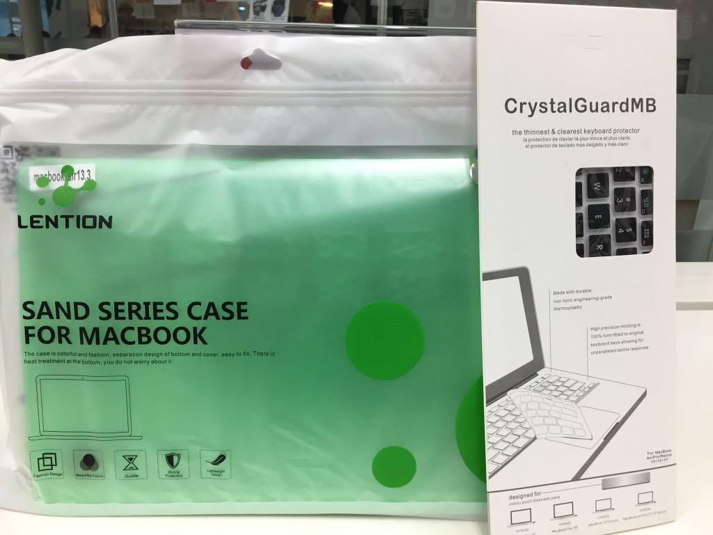 hardcase lention sand series green gratis cover keyboard