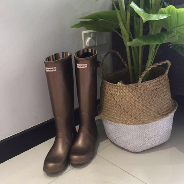 Hunters Wellington tall boots rain