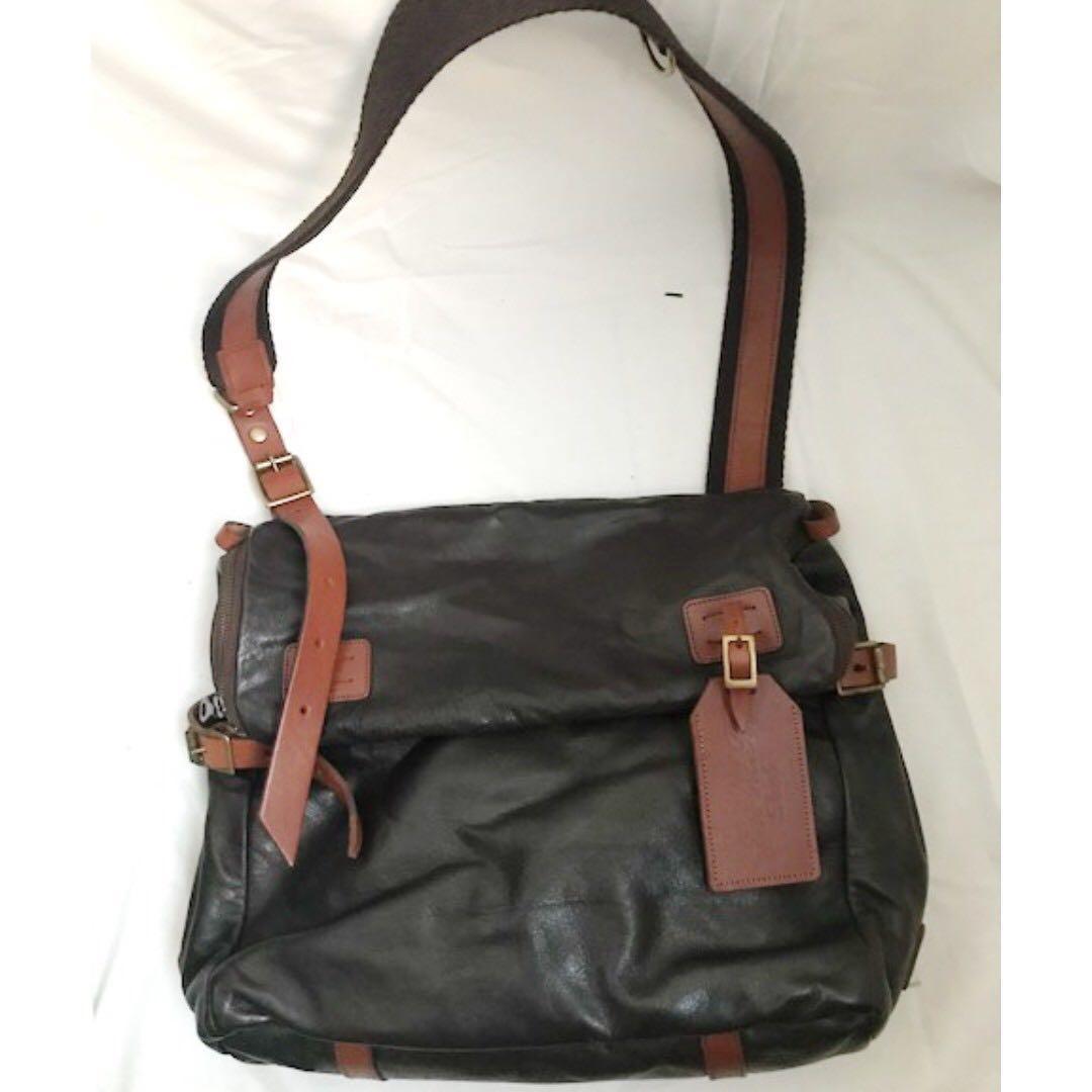 【不議價】英國品牌JAS M B leather crossbody messenger bag 斜孭袋