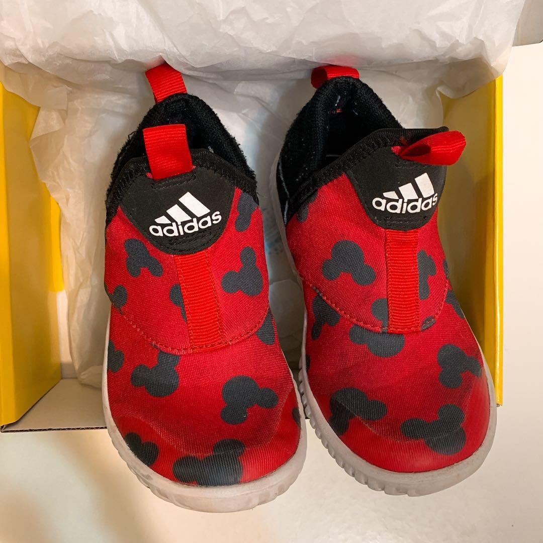 Kids Adidas 波鞋 男童 童裝 鞋 shoes red & white Mickey mouse
