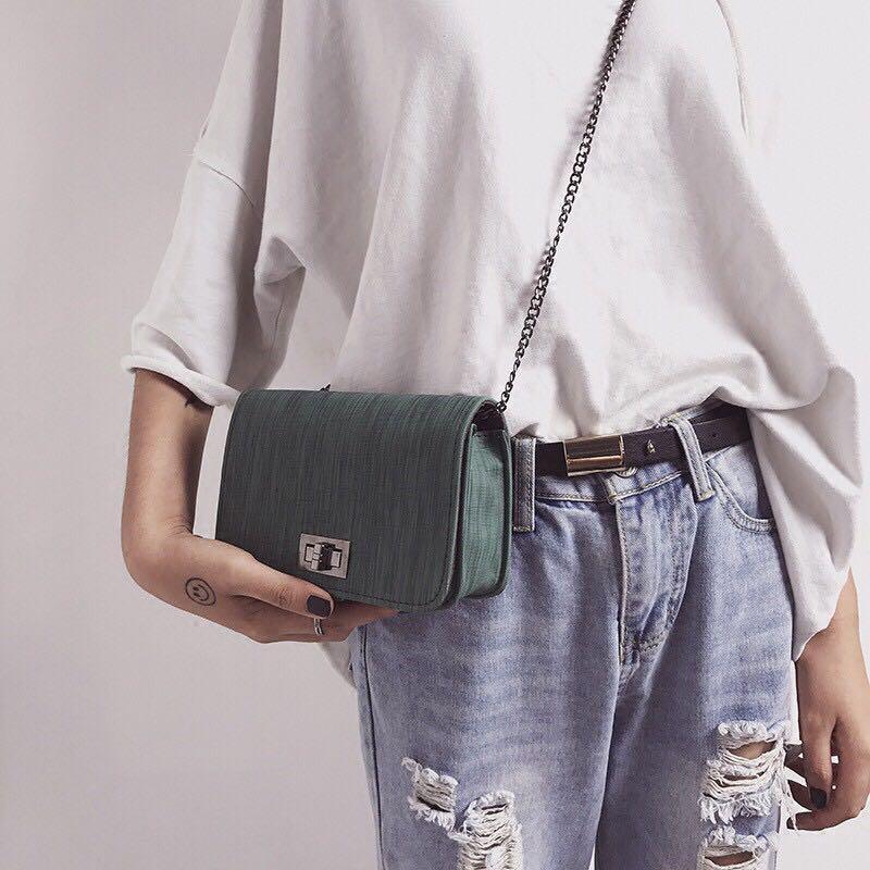 korean small square slingbag