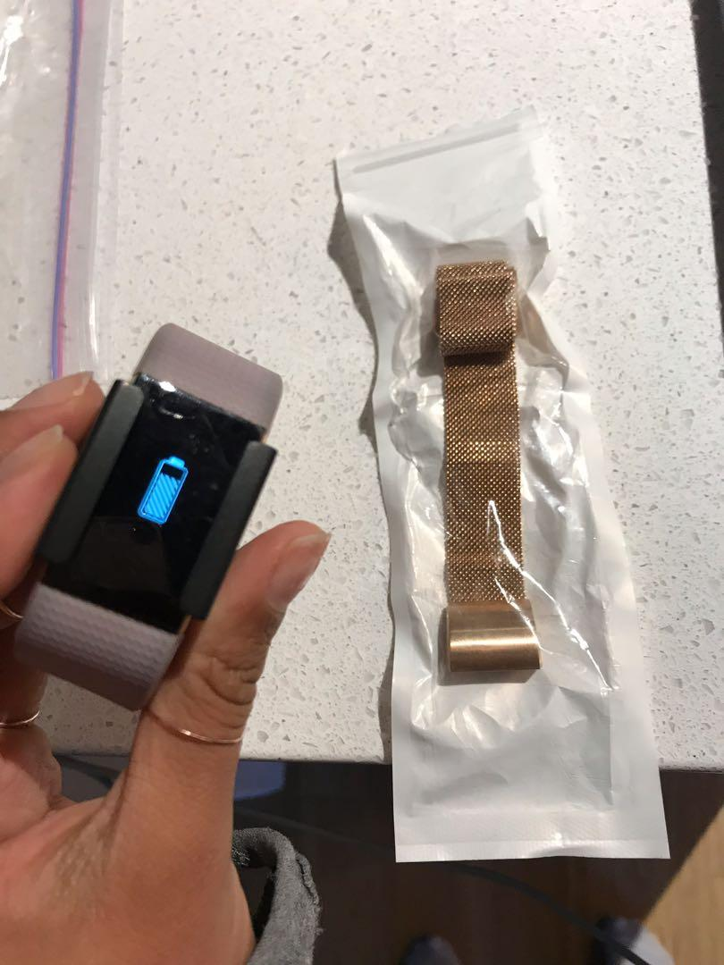 Limited edition, rose gold lavender Fitbit charge 2