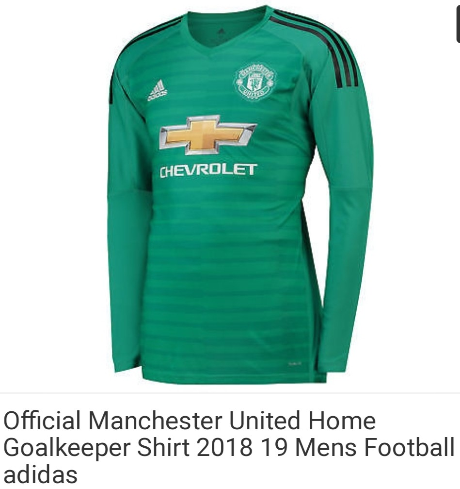 competitive price 8e602 d1791 Manchester United goalkeeper Jersey