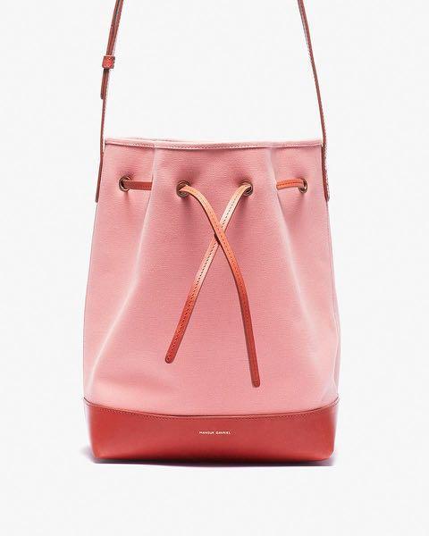 Mansur Gavriel Women's Pink Mini Canvas And Leather Bucket Bag