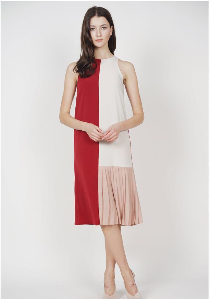 MDS ColorBlock Midi Dress