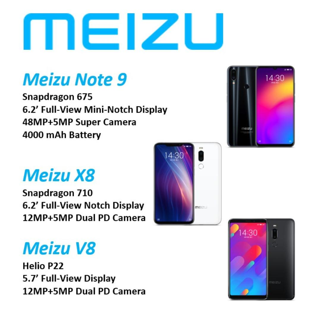 Meizu Note 9 X8 V8 Android Phones, Mobile Phones & Tablets