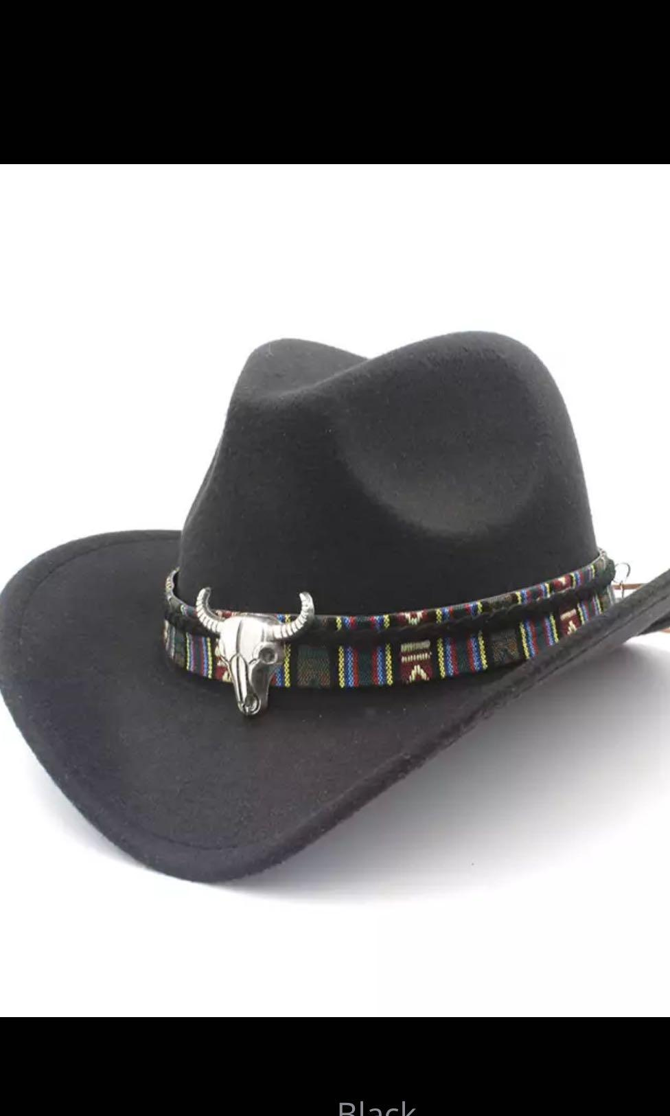 Men Women Cowboy Hat Retro