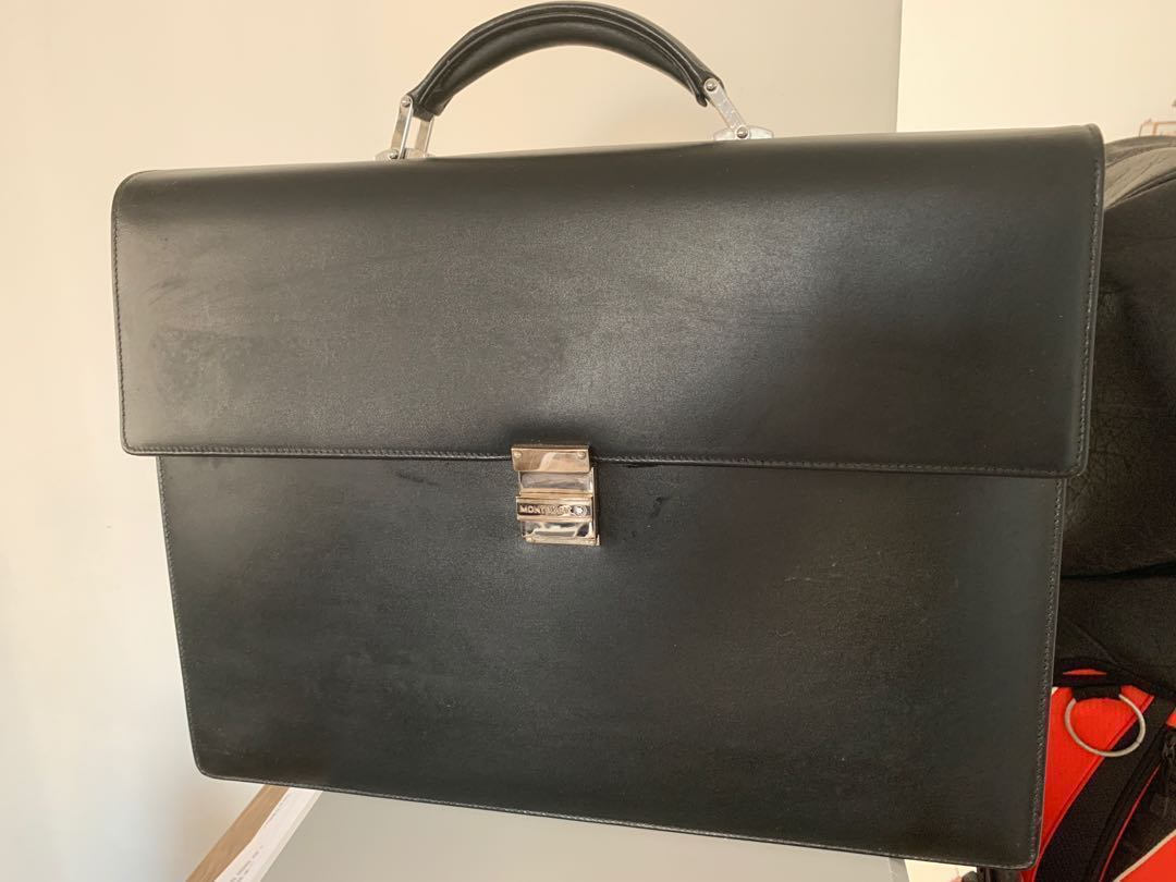 430496525e Montblanc Briefcase, Men's Fashion, Bags & Wallets, Briefcases on ...
