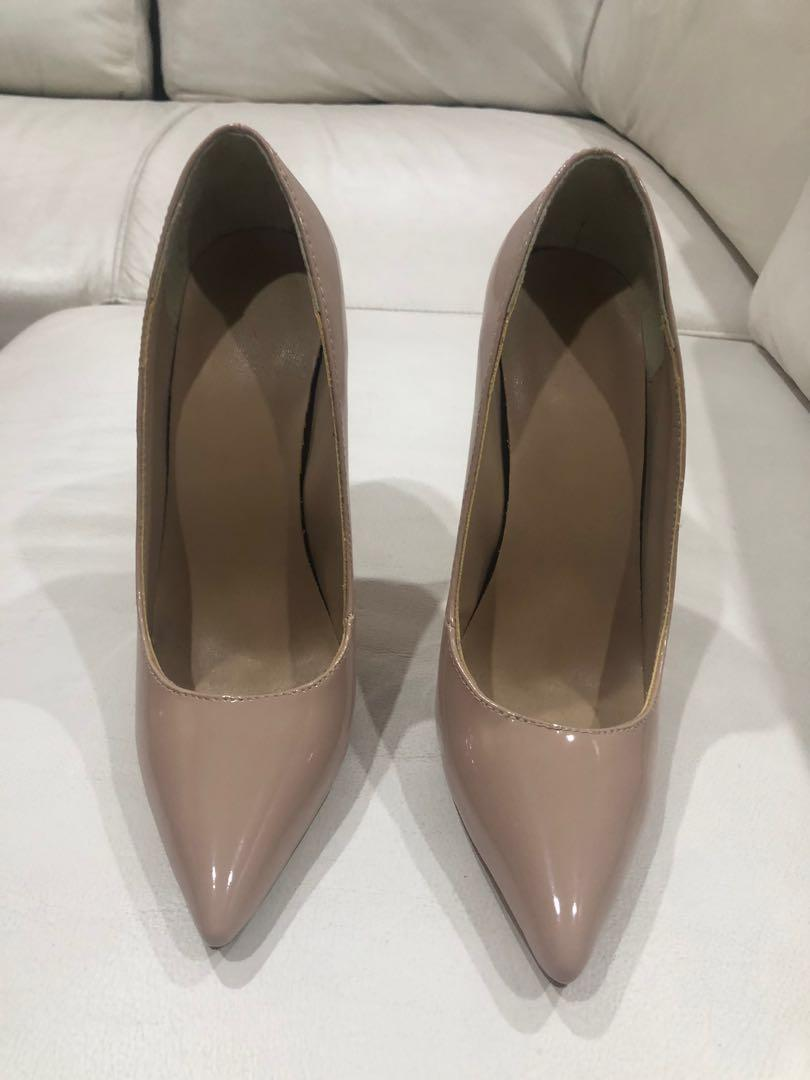 Nude Patent Leather Stilettos - Size 36 - Brand new!!