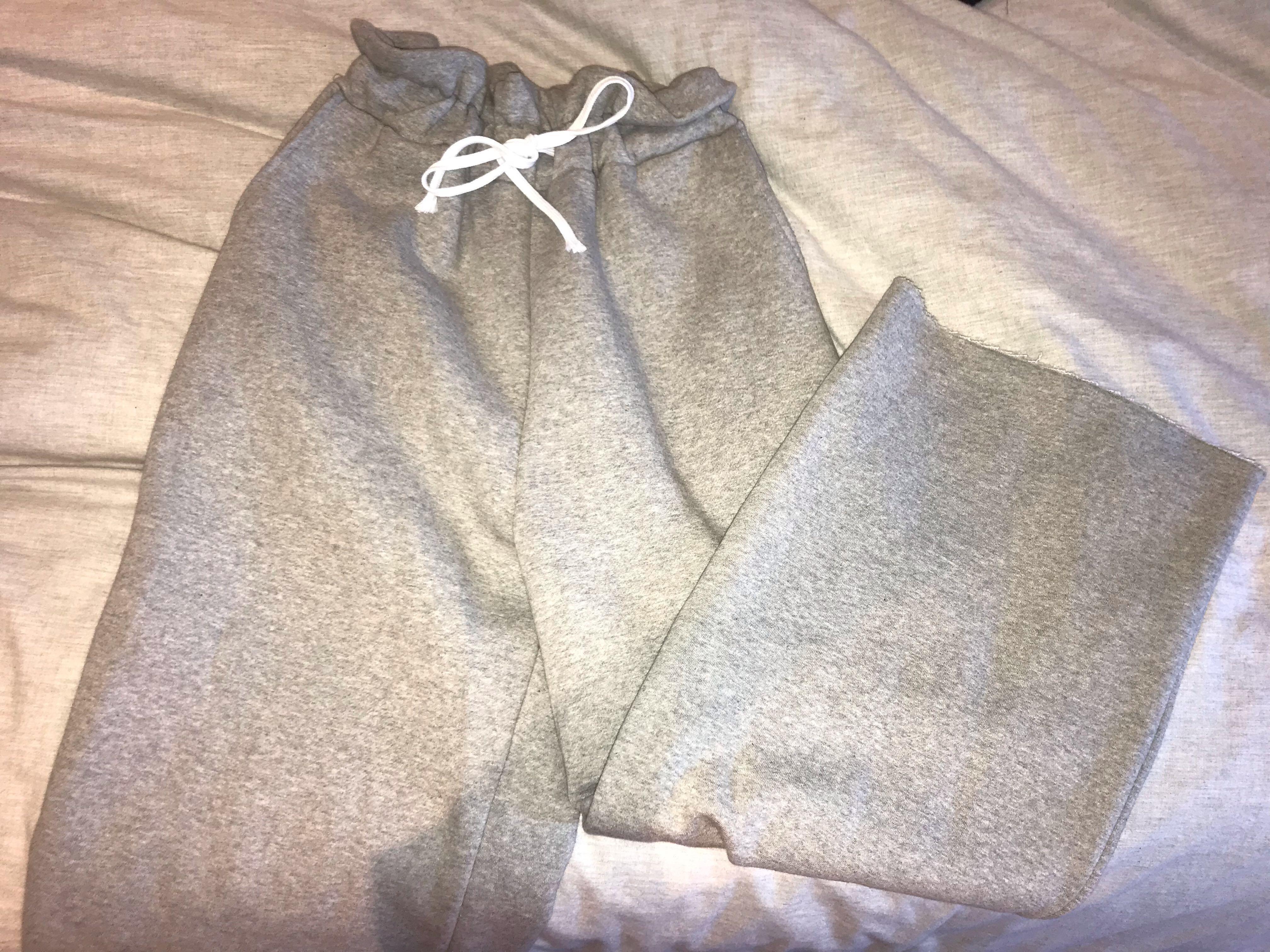 Oak + Fort, heather grey wide leg sweats