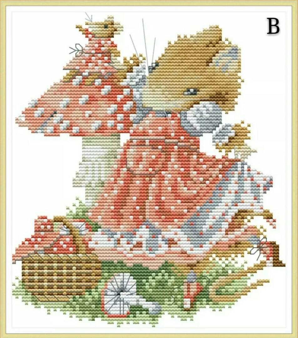 ✨PM for price✨  🍀Bird Cat Mouse DMC Cross Stitch Needlework Embroidery Kit🍀