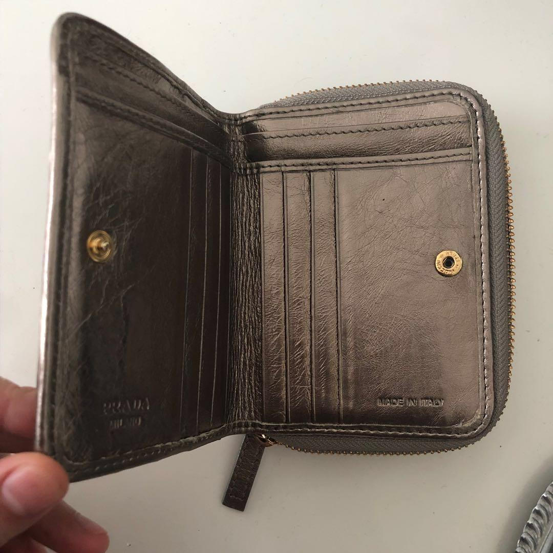 Prada Gunmetal Wallet