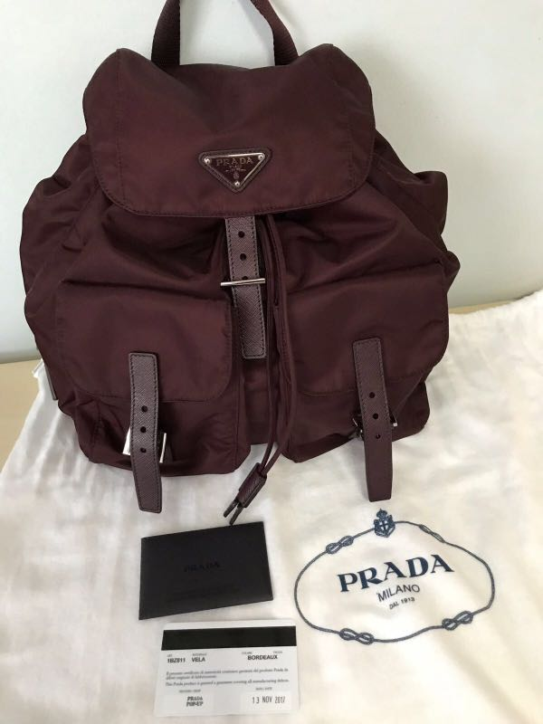 6efb97f1bc44 Prada Vela Nylon Backpack Small, Women's Fashion, Bags & Wallets, Backpacks  on Carousell