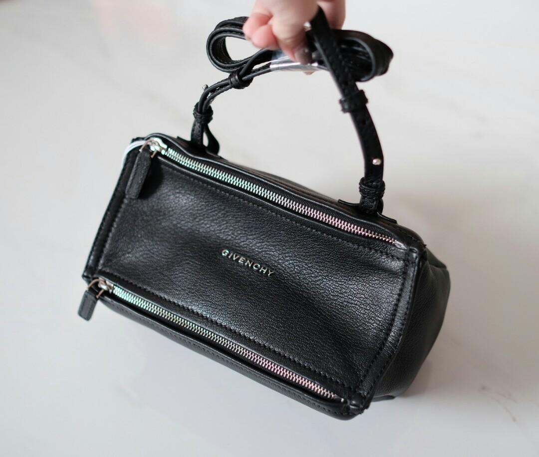 Ready Givenchy Mini Pandora Black Grained 24x13x11cm