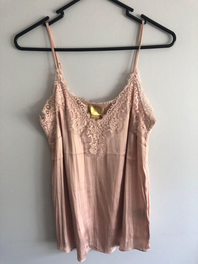 Silk lace cami