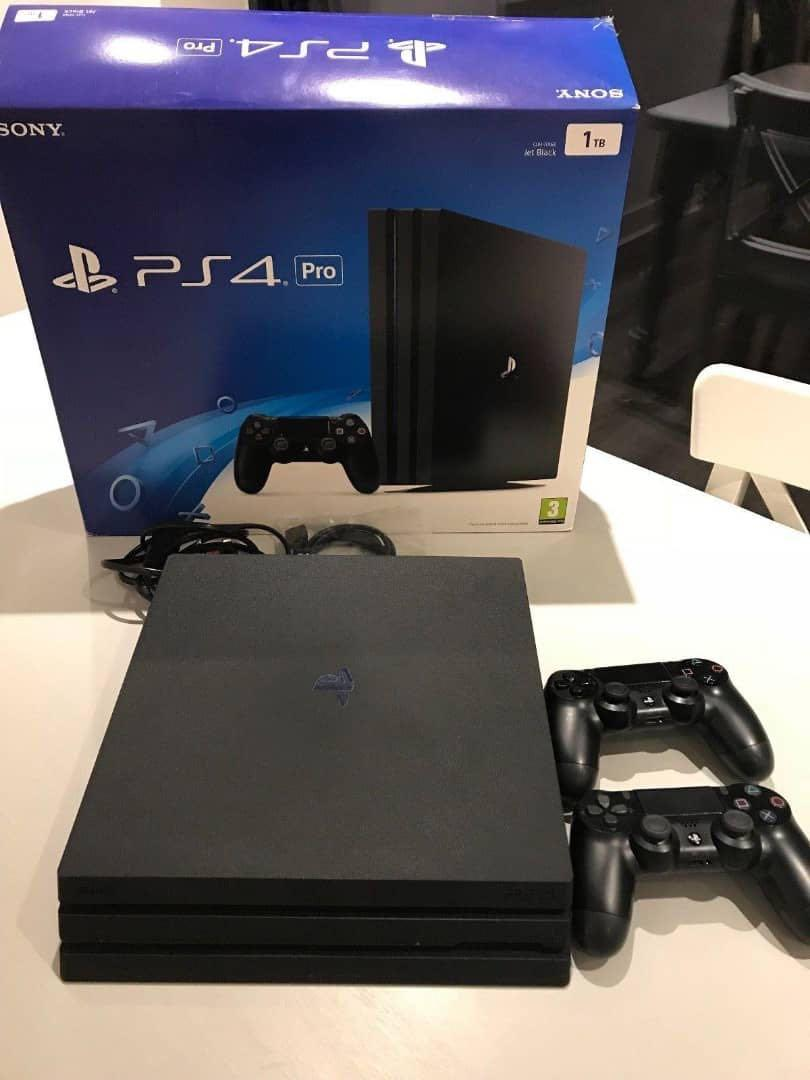 Sony PlayStation 4 pro 1TB comes with 2 controllers and 7 games free
