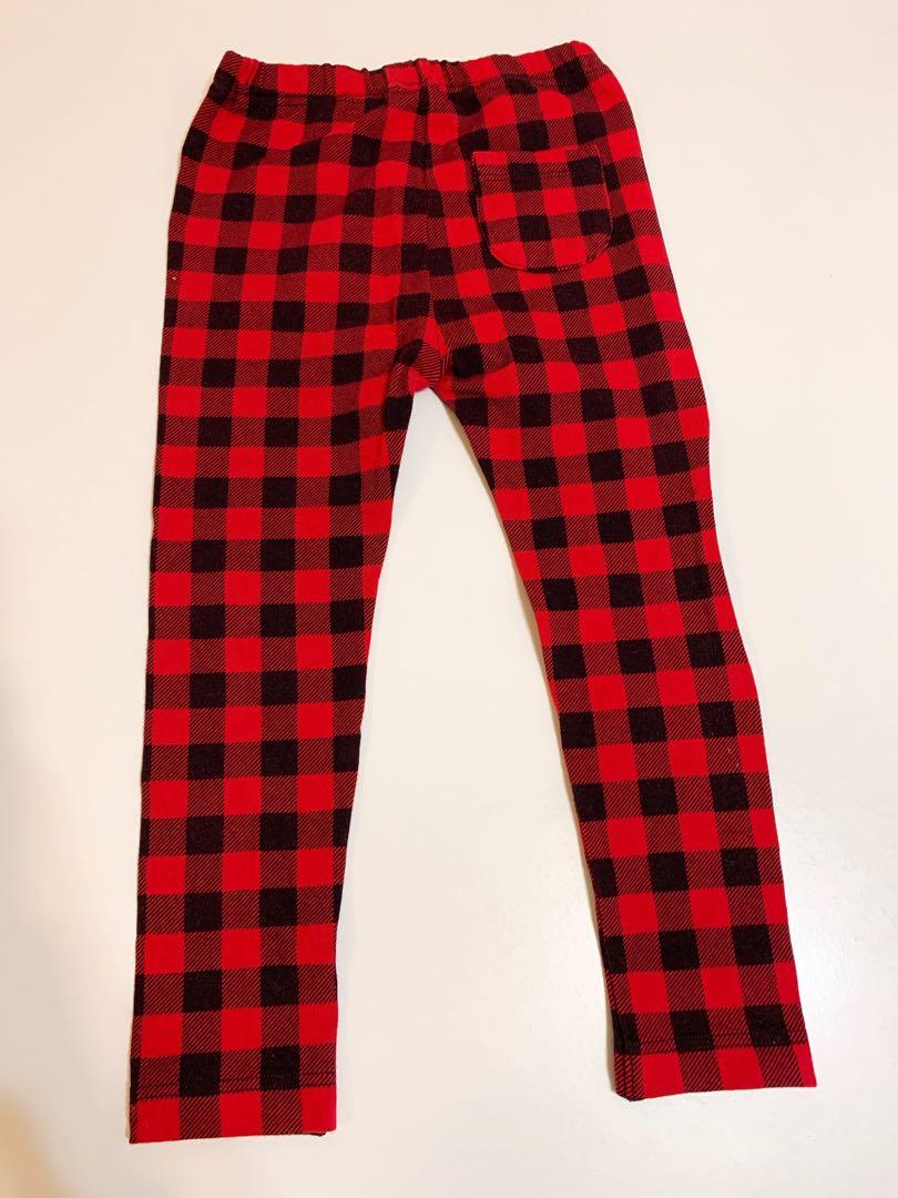 Uniqlo red strip Trousers 紅色格仔長褲