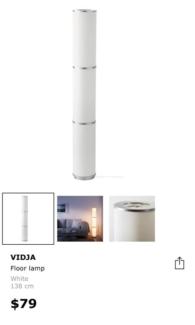 Vidja Floor Lamp Furniture Others On Carousell