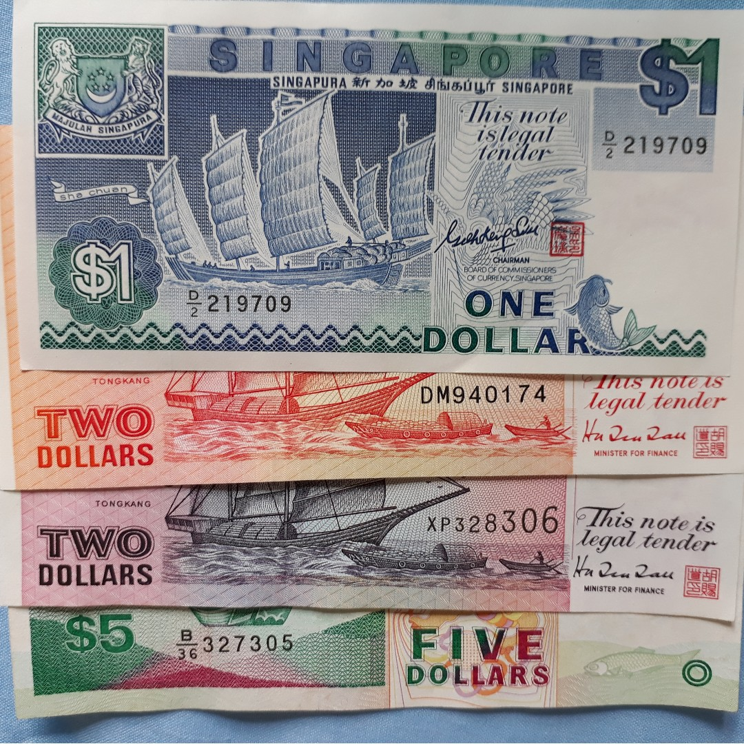 Vintage Singapore Currency Boat Series