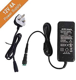 🚚 Signcomplex LED Driver 12V 4A Power Supply, [LIMITED DEAL] AC 90-240V to DC 12V Adapter Switching Transformers for LED Strip Adapter 48 Watt Max, CE/TUV/GS Certification (UK Plug)