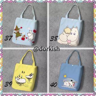 [PO] Moomin Moomins Moomintroll Moominmamma Moominpappa Snorkmaiden Little My Cute Canvas Tote Bag (2 of 2)