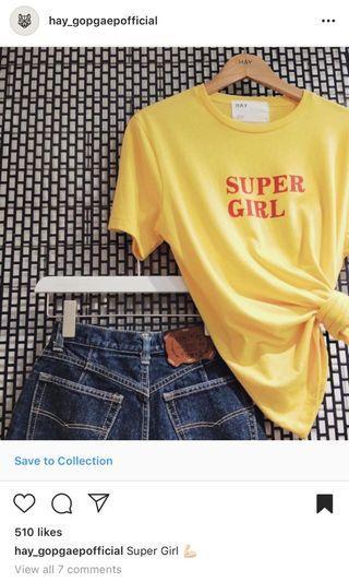 🚚 Super Girl Tee - Yellow
