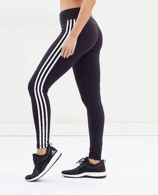 Adidas three stripe leggings