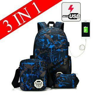 Travel bagpack bag 3 in 1 laptop bagpack