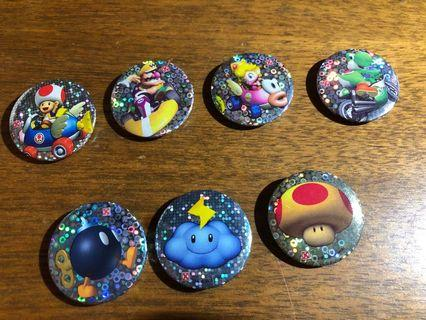 Mario collection Small Badges
