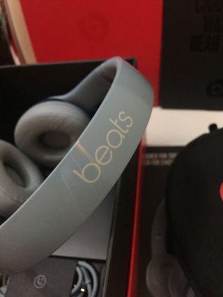 Beats solo2 淺灰藍色 耳機