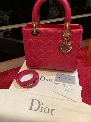 LADY DIOR MEDIUM FUSCHIA