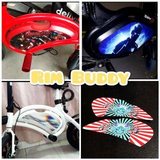Rim Buddy Custom Panel Stickers for DYU, Tempo, AM scooters