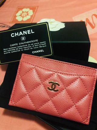 Chanel Card Holder wallet 卡片套 粉紅色