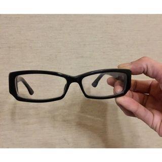 古馳 GUCCI 草寫Logo 粗框眼鏡 含鏡片