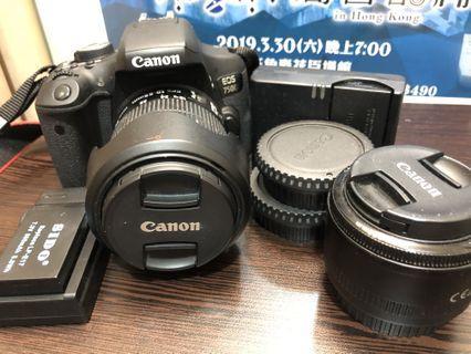 90% Canon 750D 雙鏡雙電
