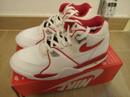 全新Nike Air Flight 89 LE US9.5 basketball 波鞋 紅白色 shoe