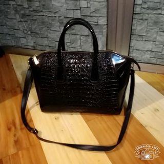 Crocodile skin bag thick leather