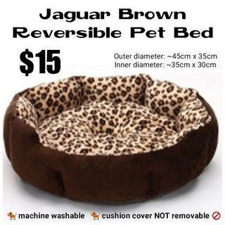 Reversible Pet Bed (Jaguar Brown)