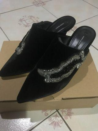 ZARA Mules with sequins