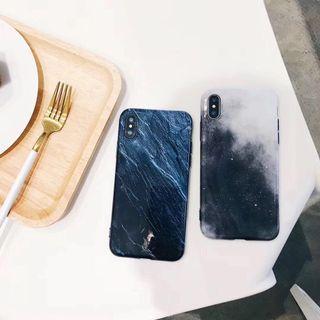 灰色星空 光面軟殼全包手機殼 i7/7plus