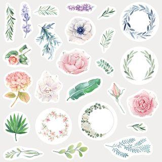 Flower Stickers  (Series #1) / Floral Stickers (Series #1)